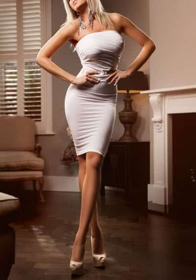 Slim blonde Latin escort Camila in South Kensington, London