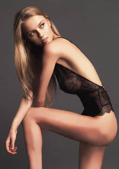 Stunning tall slim Russian model Paula